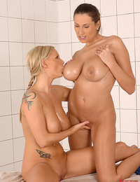 Busty lesbians Sensual Jane & Sheila Grant having sexy fun