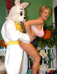Kelly meets the Easter bunny and gets fucked like a rabbit.