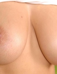 Busty babe Edo showing her perfect round boobs just for you