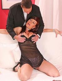 Hot busty babe Katy Parker gets ass-fucked & boobs cummed